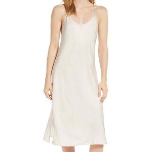 Lou & Grey Shimmer Twill Slip Dress NWT